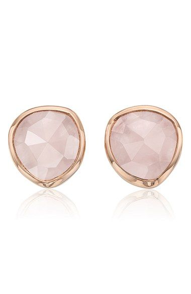 Monica Vinader 'Siren' Semiprecious Stone Stud Earrings available at #Nordstrom