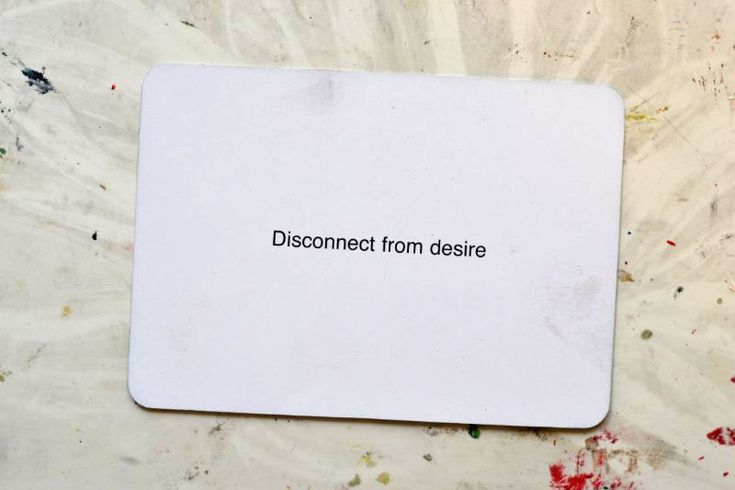 Oblique Strategies kept, and well used, by David Bowie