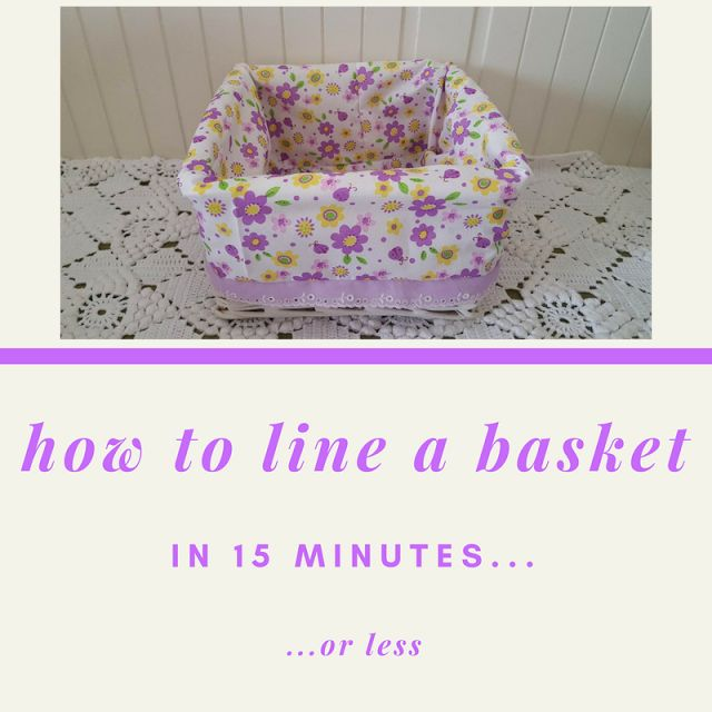 Keeping it Real: How to line a basket in 15 minutes or less