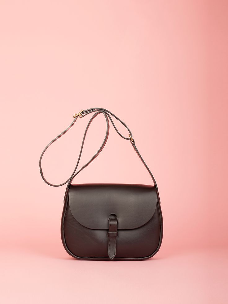Peggy - Black Leather Bag, Mimi Berry SS16