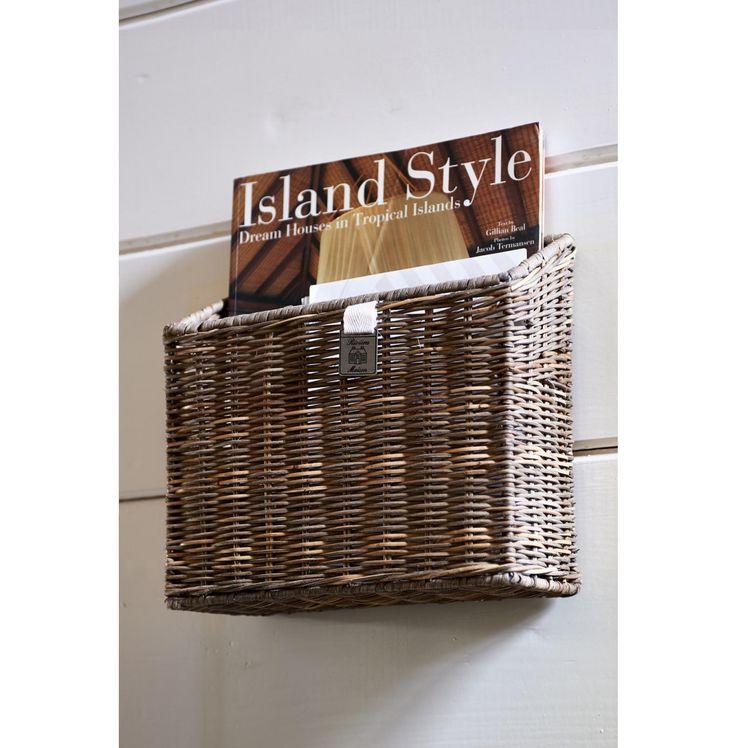 Rustic Rattan Wall Basket Closed Weave - Coming Soon | Rivièra Maison