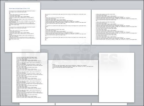 Dans un document Word, vous souhaitez alterner plusieurs pages au format Portrait et d'autres au format Paysage. Pour cela, vous devez utiliser les sauts de section.