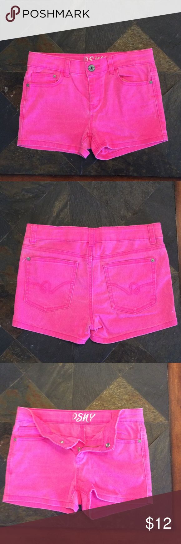 Shorts NW/OT NW/OT PSNY hot pink shorts. They have front pockets and accented back pockets. They have an adjustable waist on the inside. Materials are 98% cotton and 2% spandex. PSNY Bottoms Shorts
