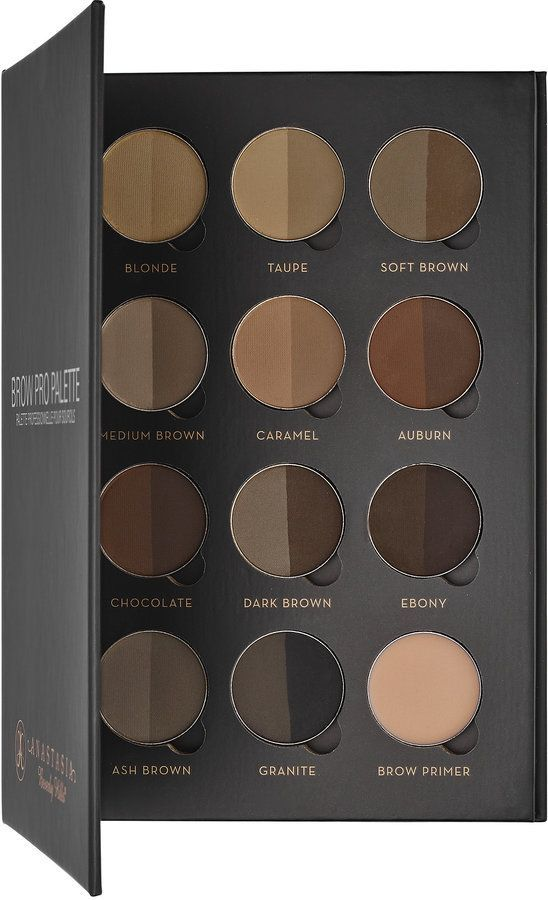 A must-have palette for makeup artists containing all 11 shades of Brow Powder Duo and Brow Primer. Use Anastasia Beverly Hills Brow Pro Palette to achieve the ideal brow color and a natural finish. - $88
