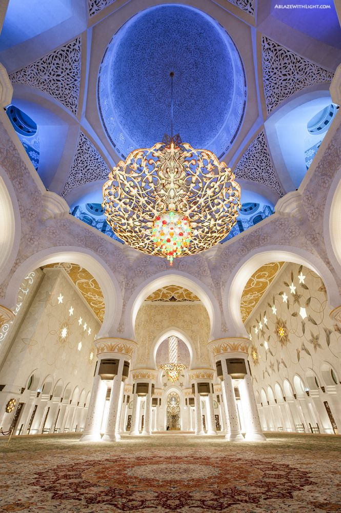 Sheikh Zayed Grand Masjid in Abu Dhabi