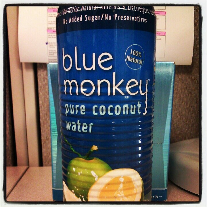 Blue Monkey....the best coconut water hands down! So long Vita Coco & Zico!  I am a coconut water snob, and this is AMAZING!  Only 10 grams of natural sugar!  Not bad at all! =)