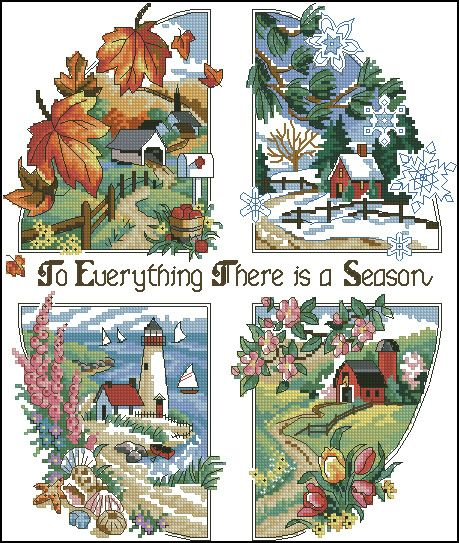 To Everything There is a Season Cross Stitch Pattern