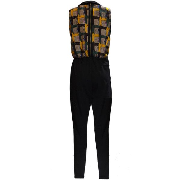 Multicolor Animal Print V Neck Casual Floral-print Jumpsuit -... ($139) ❤ liked on Polyvore featuring jumpsuits, animal print jumpsuit, v neck jumpsuit, multi colored jumpsuit, floral print jumpsuit and colorful jumpsuit