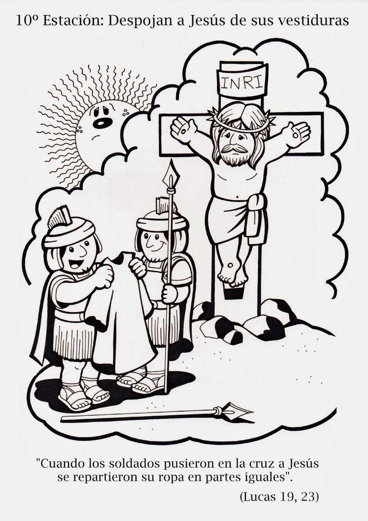 15 best Via Crucis para colorear images on Pinterest | Easter ...