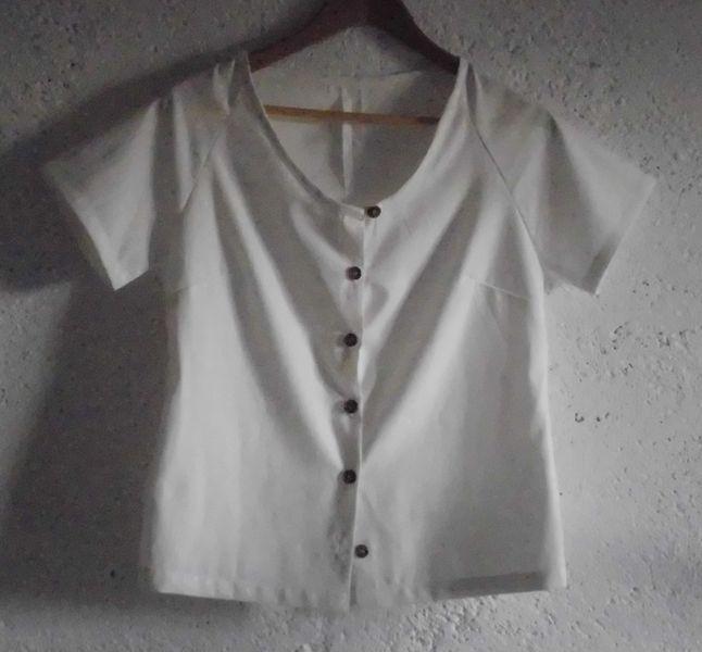 CEFALU BOTTONE, una camicetta tg. M, bianco di domoras su DaWanda.com
