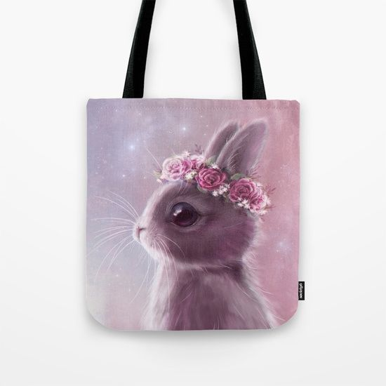 Fairy Bunny tote bag on my society6 store!