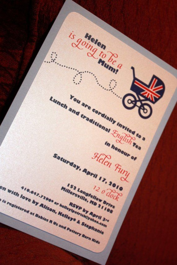 inspirational baby shower invitation wording%0A British Carriage Baby Shower Invite by AllisonBDesigns on Etsy