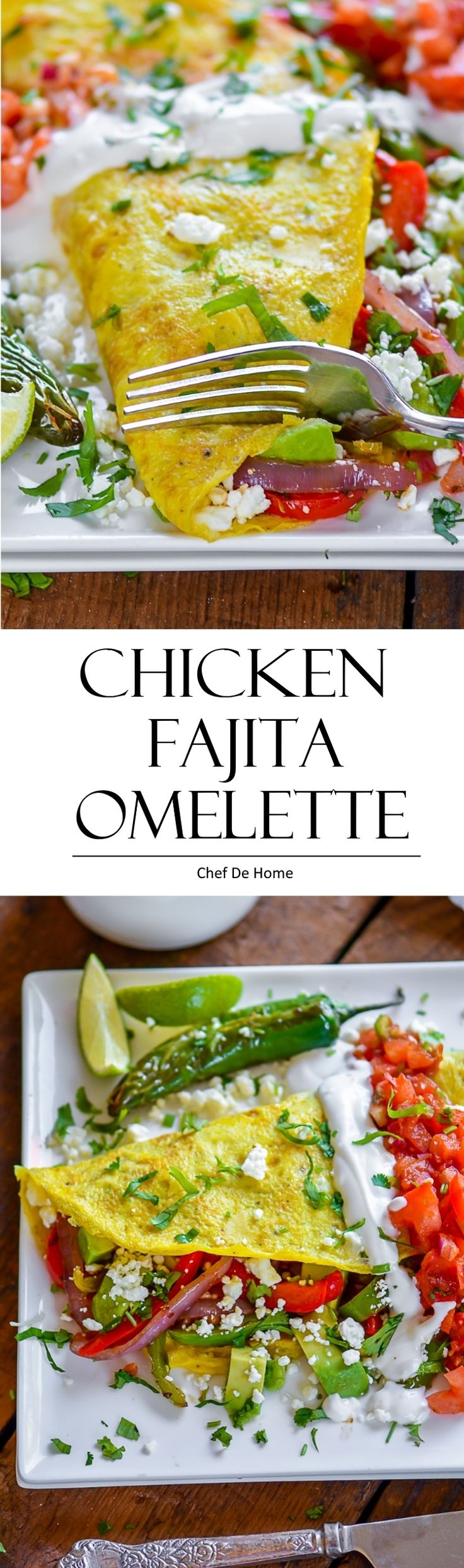 Chicken Fajita Omelette #glutenfree