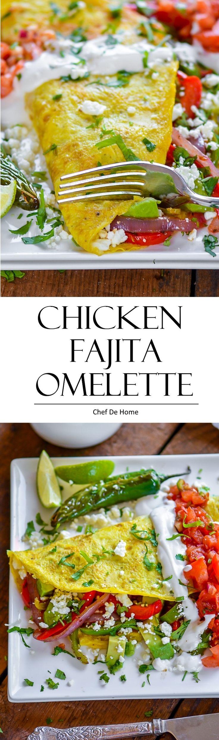 Chicken Fajita Omelette #glutenfree
