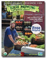 Order Your Organic Garden Seeds ~ 2015 High Mowing Organic Seeds Catalog!
