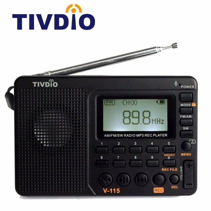 Wholesale prices US $16.78  TIVDIO V-115 FM/AM/SW Radio Receiver Bass Sound MP3 Player REC Recorder Portable Radio with Sleep Timer F9205A  Get promo for product: Xiaomi