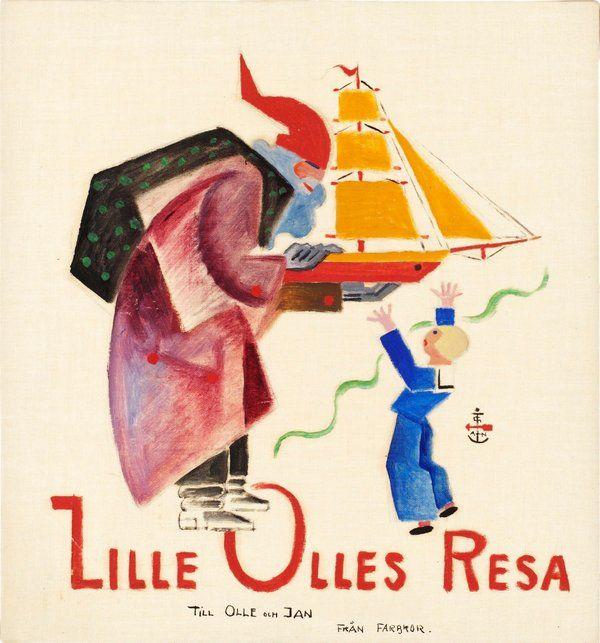 Gösta Adrian-Nilsson   Lille Olles Resa, 1920   Oil on canvas 29 x 27 cm https://www.bukowskis.com/auctions/557/138-gosta-adrian-nilsson-lille-olles-resa?locale=en&page=7