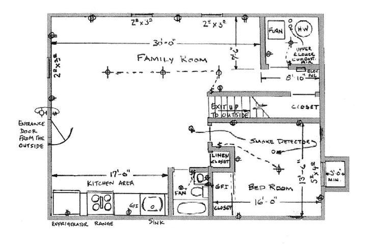 264 best home decor model images on pinterest kitchen for Basement apartment floor plans