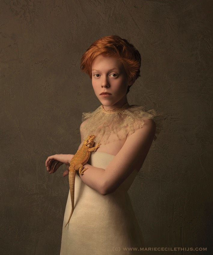 Marie Cecile Thijs - Girl with Bearded Dragon - 2015 -2