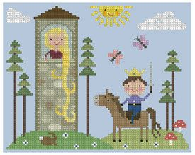 Here is a collection of fairy tale cross stitch patterns available through Etsy seller Theflossbox. The Princess and the Pea and Rapunzel o...