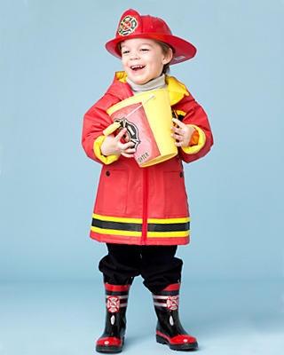 Fireman Kid Costume
