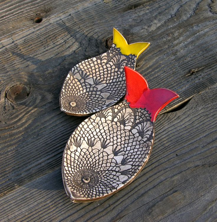 Would be great as fish spoon/sponge holders