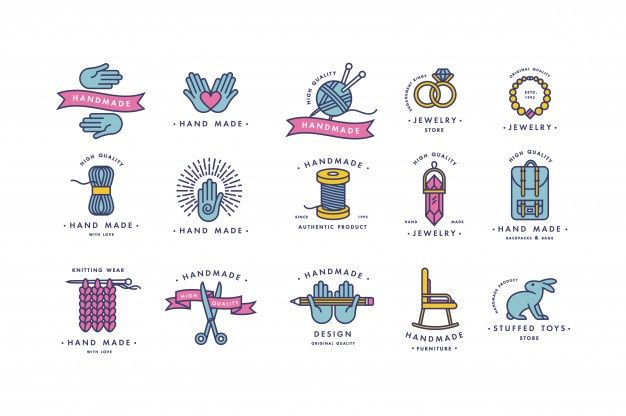Hilos Para Coser Para Punto De Cruz Set Herramientas Para Coser Agujas De Tejer Prendas De Punto De Lana Hil Logotipo De Monograma Logotipo De Tienda Logotipos
