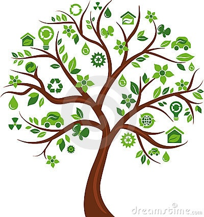 Eco energy concept icons tree - 3 by Marish, via Dreamstime