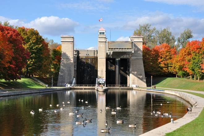 Peterborough Lift Locks - Opened on July 9, 1904, Lock 21 is the world's largest hydraulic lift lock. It leaves an visible and lasting impact on Peterborough's landscape.