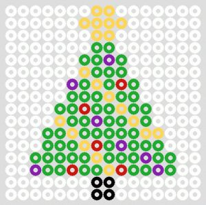 Assorted Christmas Hama Bead Designs & Patterns | BeadMerrily Hama Bead Designs #navidad