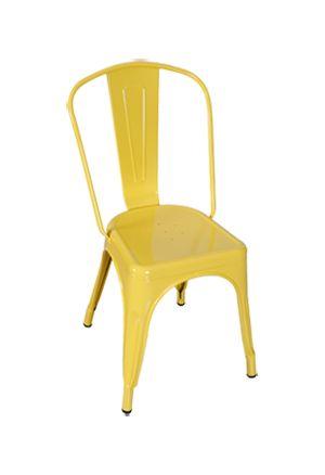 Yellow Replica Tolix Chair High Back