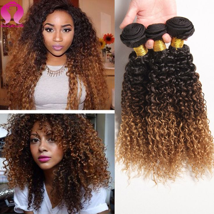 Blonde Bundles Kinky Curly Virgin Hair 3 Bundle Deals Ombre Deep Wave Curly Peruvian Virgin Hair Rosa Hair Product Kinky ...
