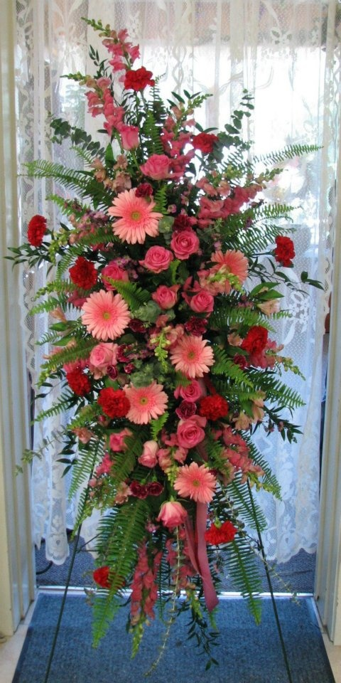 25 best ideas about funeral flowers on pinterest for Flower sprays for weddings