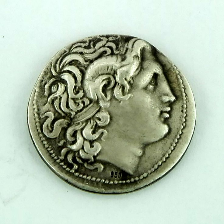 Head of Alexander the Great  - Silver tetradrachm ca 297-287 BC  www.greekgold.com