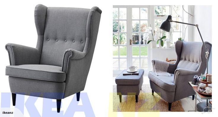IKEA STRANDMON Wing Chair Nordvalla Dark Grey Trade Me Lounge To Buy P