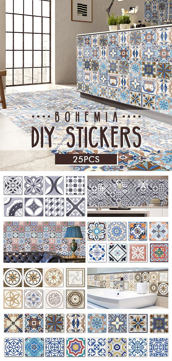 i love Bohemia in my home #home deco#DIY #sticker#fall you can buy it by visit bottom:) Specifications: Material: PVC Pattern: #1, #2, #3, #4, #5 Size: (L)X(W) 5mX20cm /196.85''X7.87''(appr.) 20cmx 20cm every porcelain plate ~~CLICK Visit button to get it ~