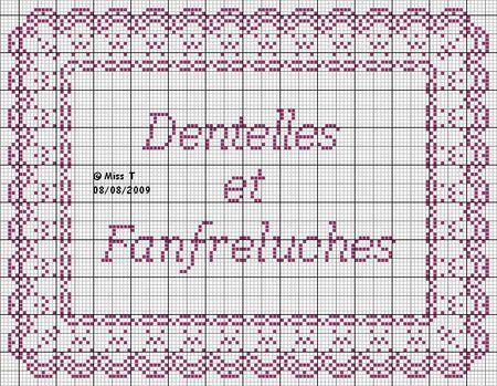brodeuse - embroiderer - étiquette - dentelles et fanfretuches - point de croix - cross stitch - Blog : http://broderiemimie44.canalblog.com/
