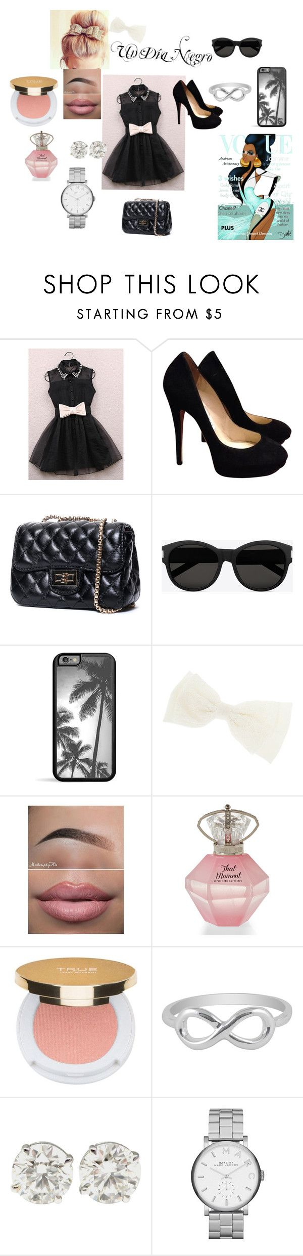 #UnDiaNegro by olgasanchez09 on Polyvore featuring moda, Jimmy Choo, Marc by Marc Jacobs, Jewel Exclusive, Yves Saint Laurent, Isaac Mizrahi and Disney
