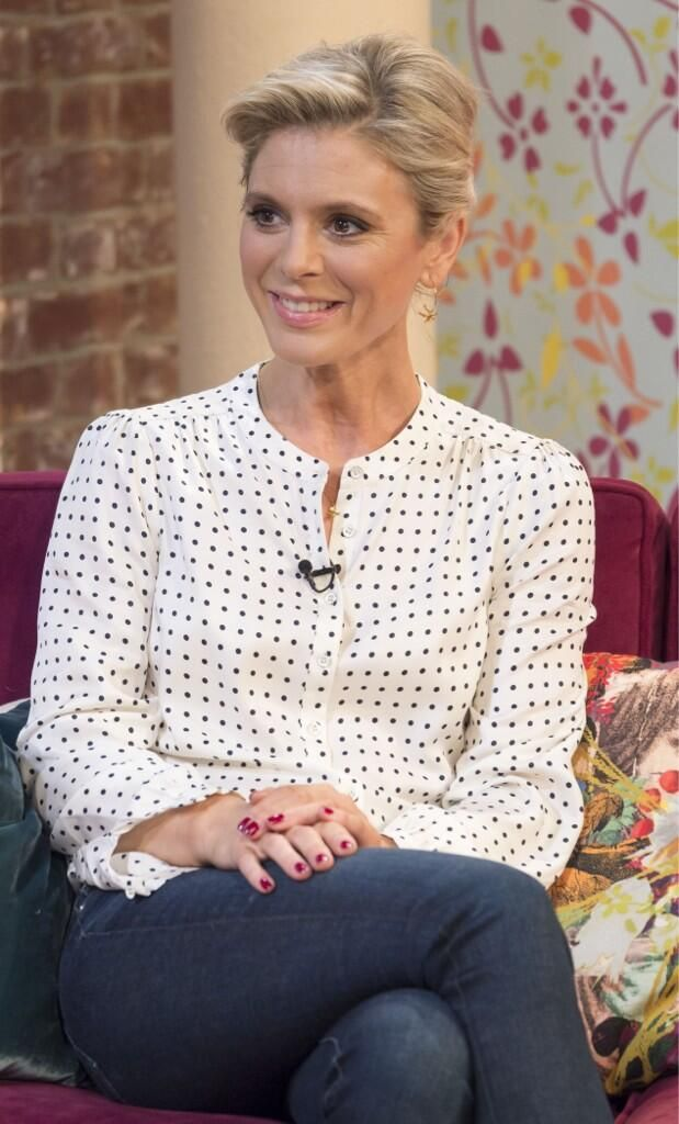 The very lovely Emilia Fox on This Morning in her @Bodenclothing Soho blouse! (23 January 2014)