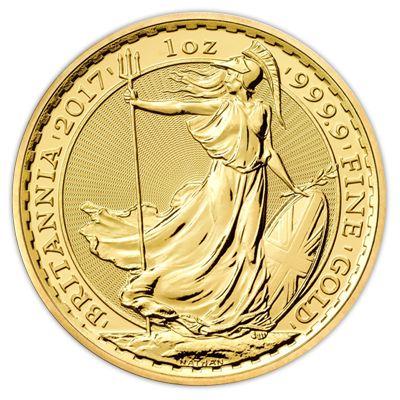 2017 Royal Mint 1 Ounce Gold Britannia Coin - 1oz Gold Coin | UKBullion