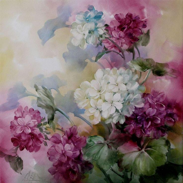 Andrew Orr - Hydrangeas - China Painting