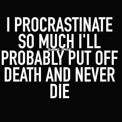 I Procrastinate So Much funny quotes quote jokes funny quote funny quotes funny sayings humor procratinate