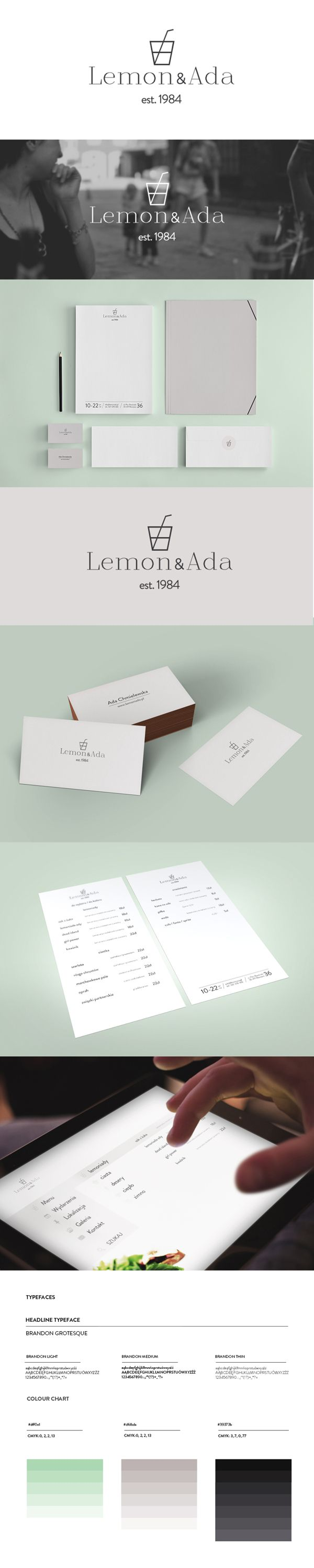 Conceptual logo, branding, visual identity and web design for Lemoniada Bar in Warsaw, Project: Brandnation, Poland