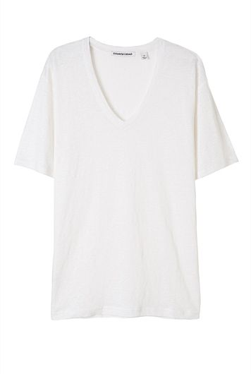 Soft V-Neck Linen T-Shirt