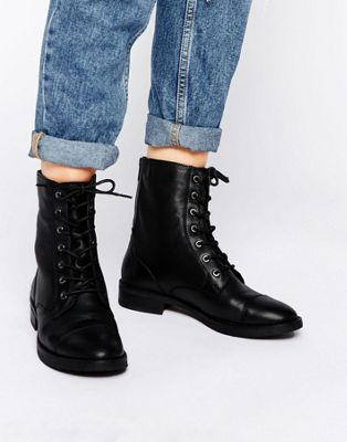 ASOS ANCROS Leather Lace Up Ankle Boots