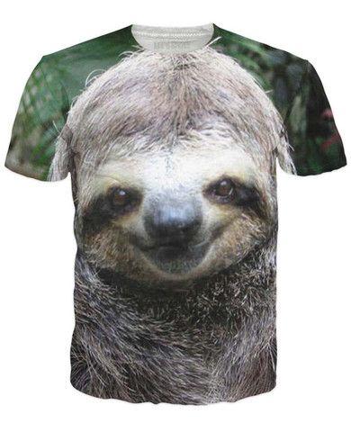 Sloth All Over Print T-Shirt - RageOn