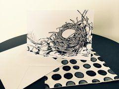 Hand Illustrated Card - 'Nesting Rocks Part II'