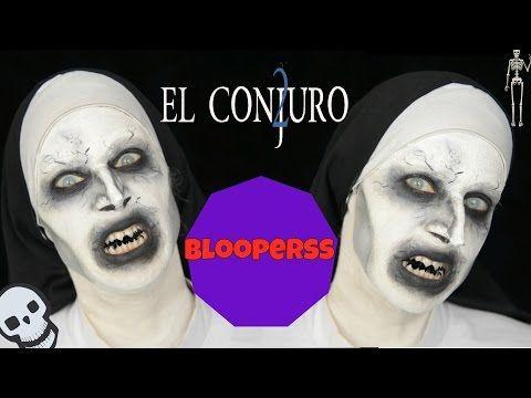 El Conjuro 2 Valak tutorial + bloopers - The Conjuring 2 , Valak makeup Tutorial - YouTube