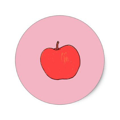 Apple Stickers - red gifts color style cyo diy personalize unique