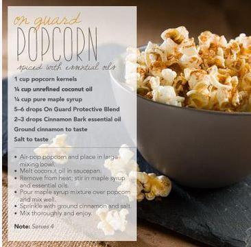 Onguard Popcorn Recipe  #healthandwellness #naturalliving #nontoxic #essentialoi… – Essential Oil Food Recipes